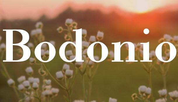 Bodonio Font