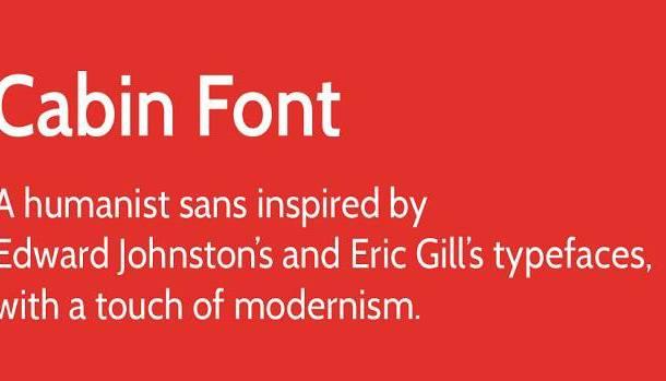 Cabin Font Family