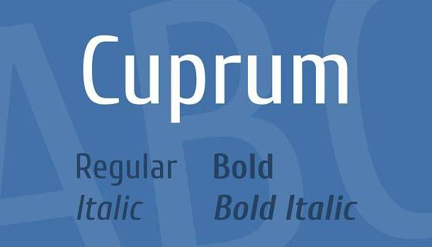 Cuprum Font Family