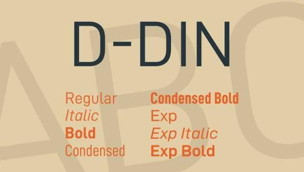 D-DIN Font Family