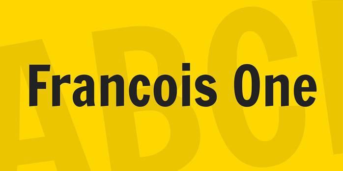 Francois One Font