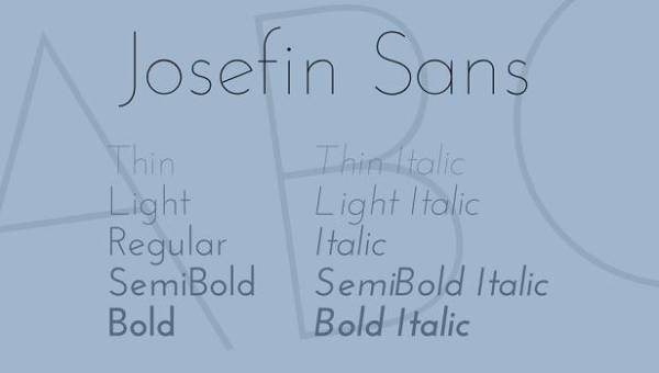 Josefin Sans Font Family