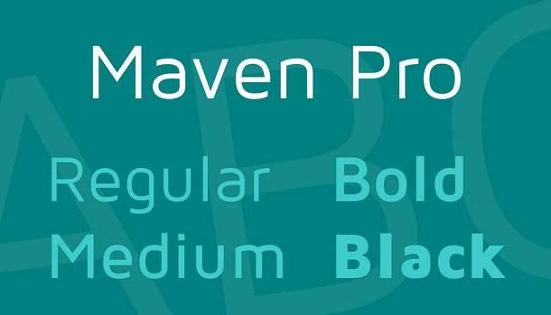 Maven Pro Font Family