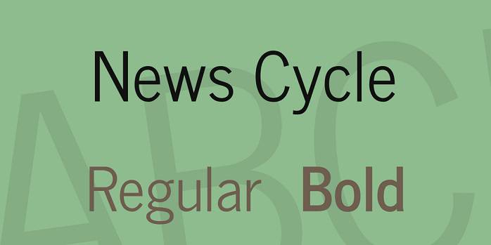 News Cycle Font Family