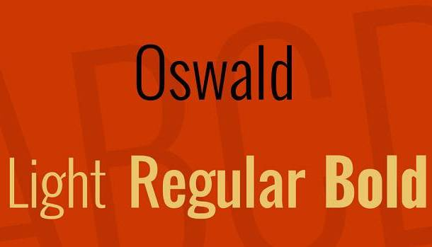 Oswald Font Family