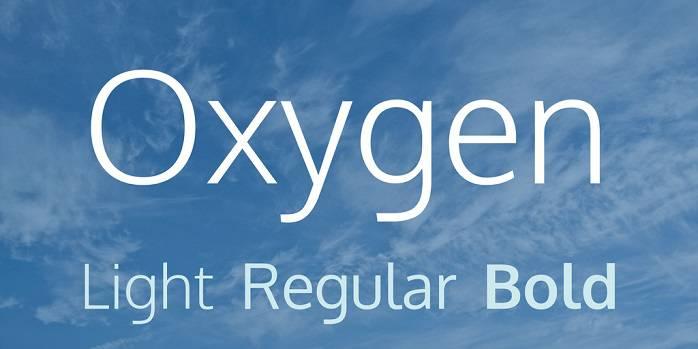 Oxygen Font Family