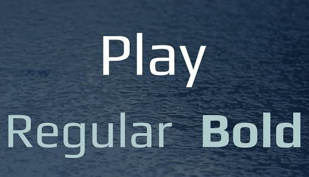Play Font Family