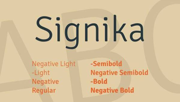 Signika Font Family