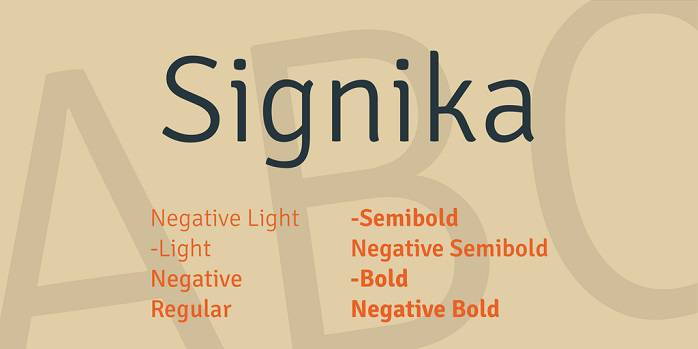 Signika Font Family_compressed