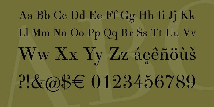 Theano Didot Font - Dafont Free