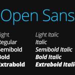 Open Sans Font Family