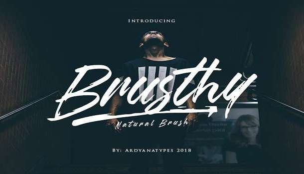 Brusthy Font Family