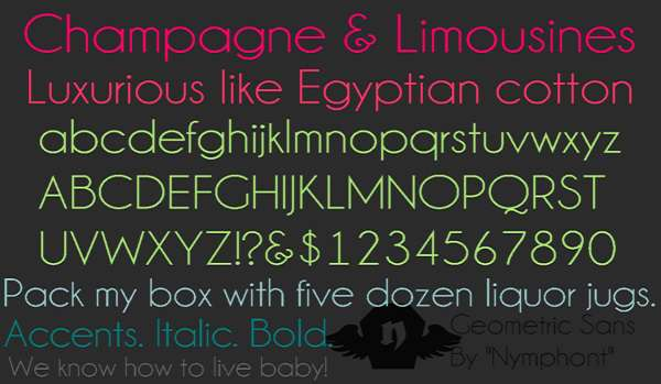 Champagne & Limousines Font Family