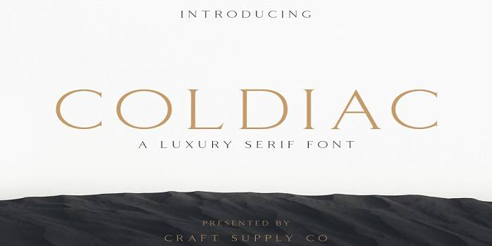 Coldiac Font Family