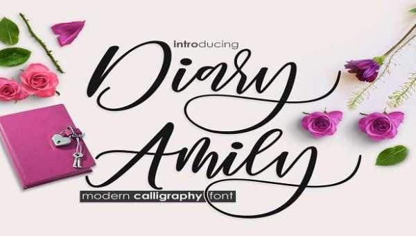 Diary Amily Font