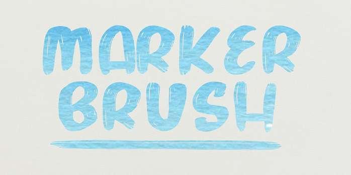 Marker Brush Font