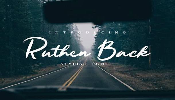 Ruthen Back Font