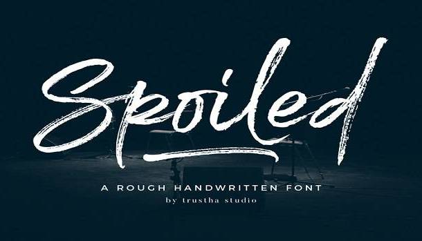 Spoiled Font