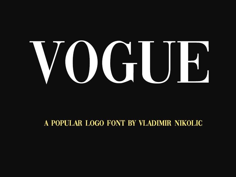 Vogue-Font-Family