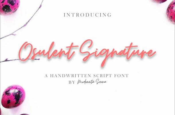 Osulent Signature Font