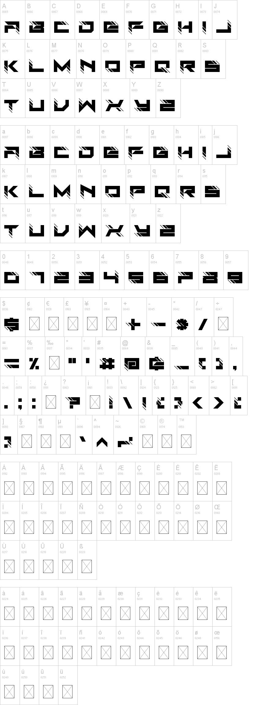 Auto Techno font-1