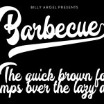 Barbecue Font