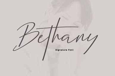 Bethany Script Font