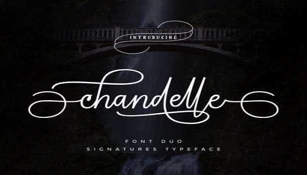 Chandelle Display Font
