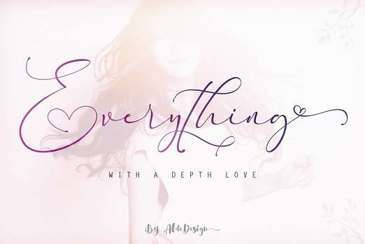 Everything Calligraphy Font