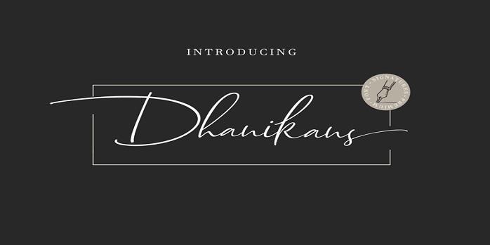 Dhanikans Signature 2 Font - Dafont Free