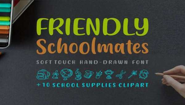 Friendly Schoolmates Font