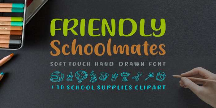 Friendly Schoolmates Font