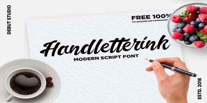 Handletterink Font