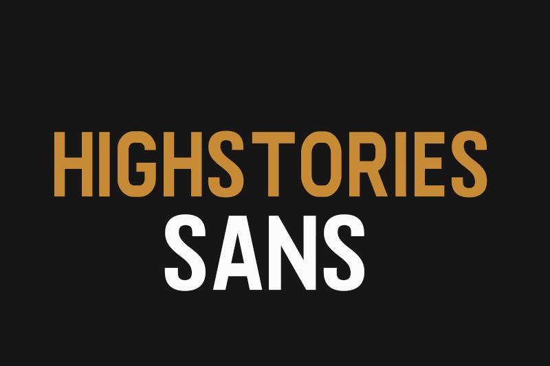 Highstories Sans font