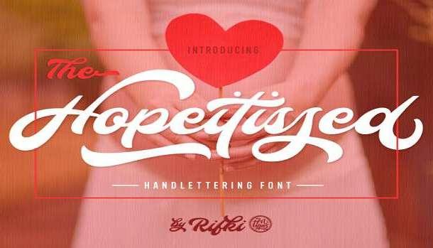 Hopeitissed Font