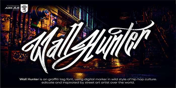 JFK Wall Hunter Font - Dafont Free