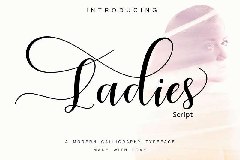 Ladies Script Font