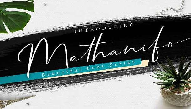 Mathanifo Script Font