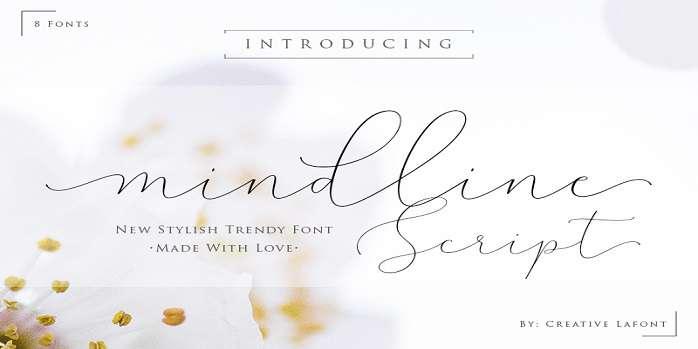 Mindline Script Font