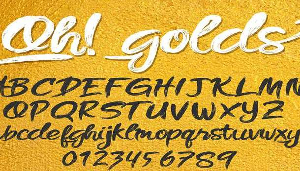 Oh! golds Font