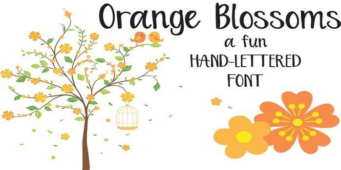 Orange Blossoms Font