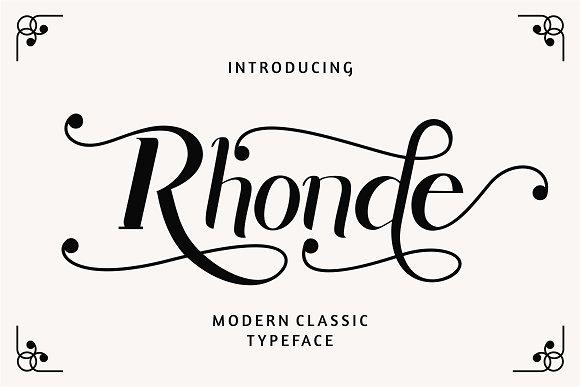 Rhonde Font