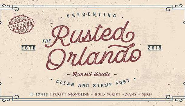 Rusted Orlando Sans Font