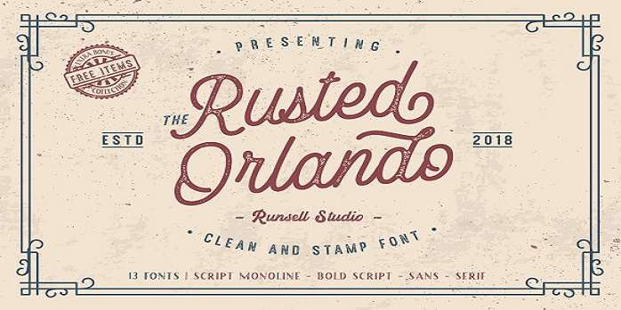 Rusted Orlando Sans font