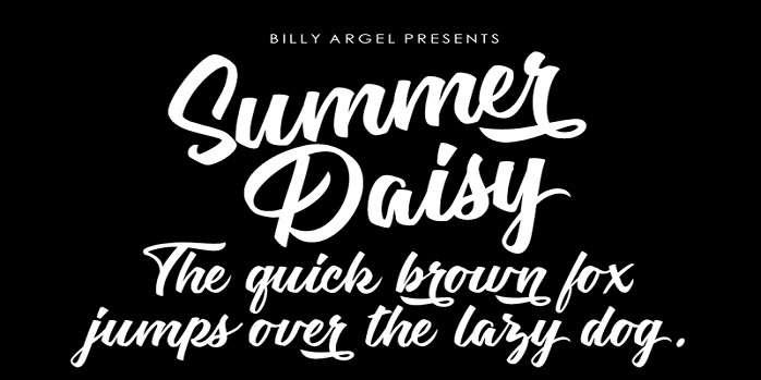 Summer Daisy Font