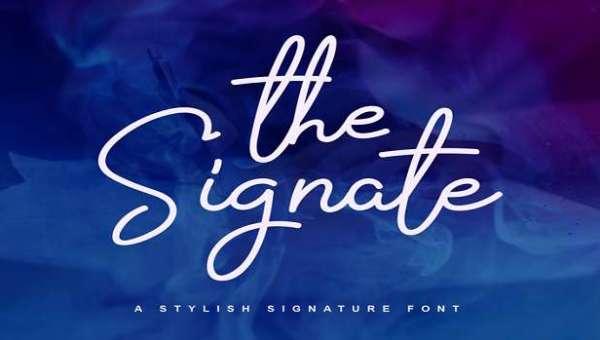 The Signate Font