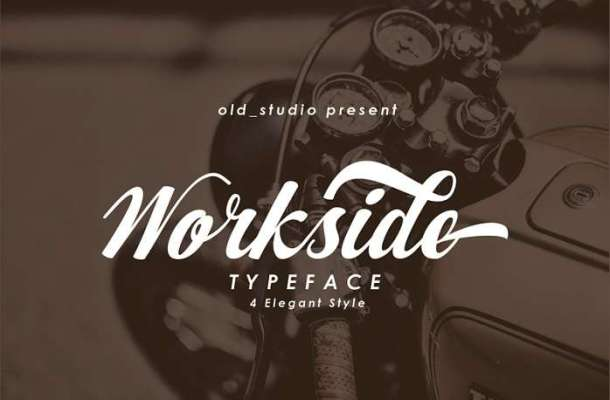 Workside Slant Font
