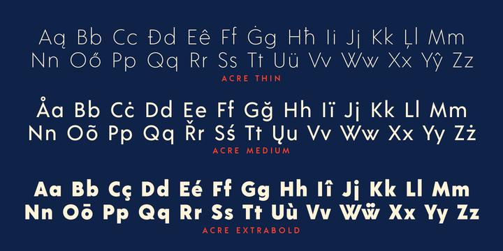 Acre font-1