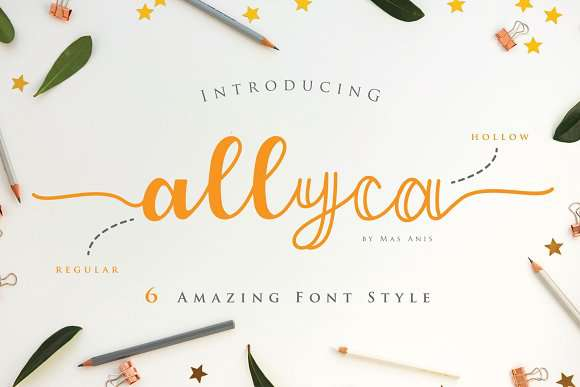 Allyca font