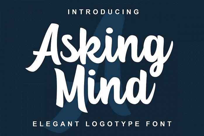 Asking Mind Font - Dafont Free